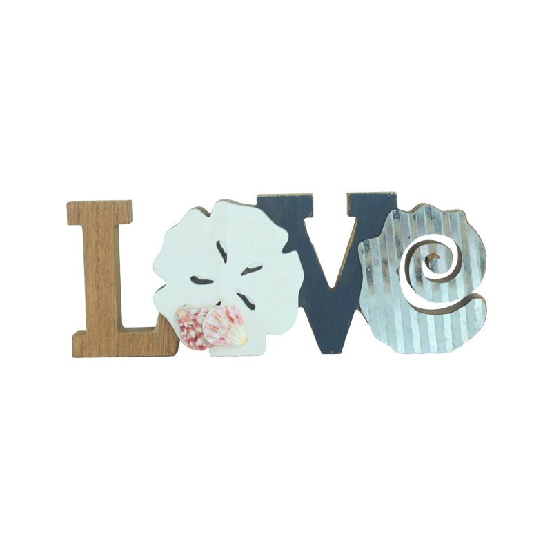Wooden letter Beach stand Home decoration