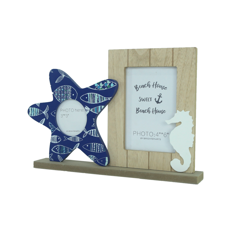 Wooden beach frame stand Home decoration