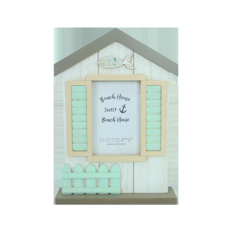 Wooden beach frame Home decoration