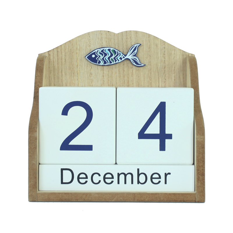 Wooden beach calendar stand Home decoration