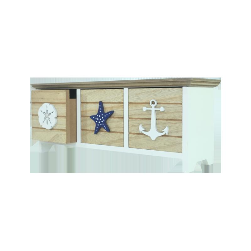 Wooden Beach Drawer Home decoration