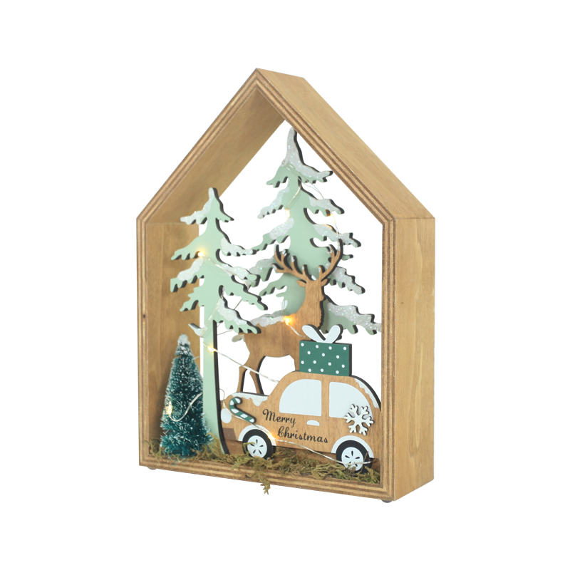 Wood Christmas Stand Home Decoration