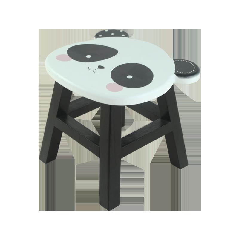 Panda Wood Chair Kids Decoration