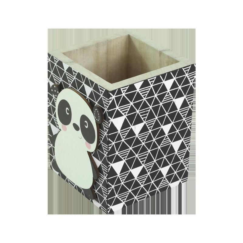 Panda Wood Box Kids Decoration