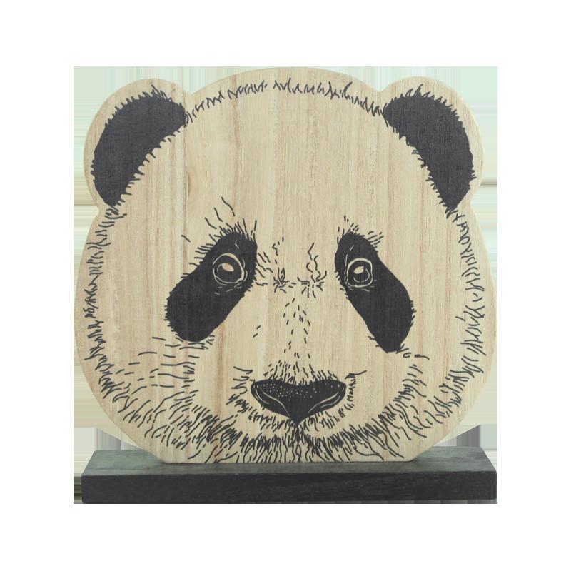 Panda Wood Stand Kids Decoration