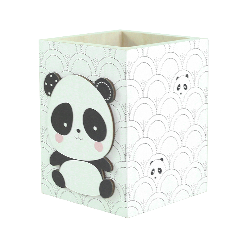 Panda Wood Box Kids Decoration
