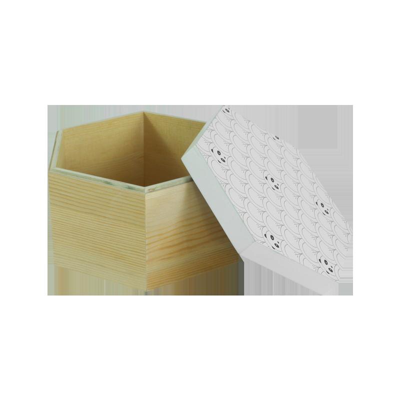 Panda Wooden Box Home Decoration