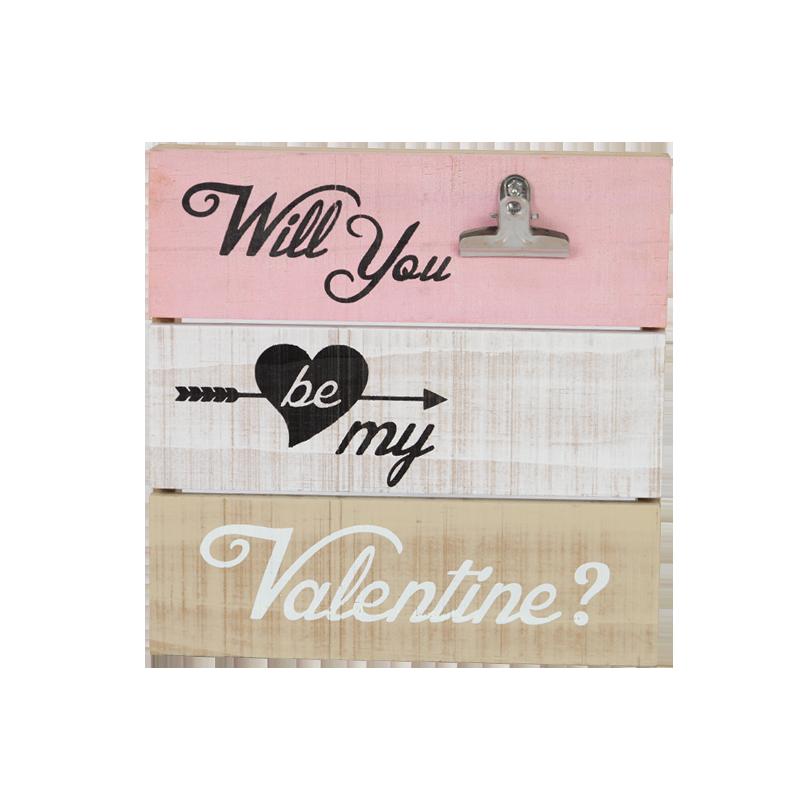 Valentine Wooden Clip Home Decoration