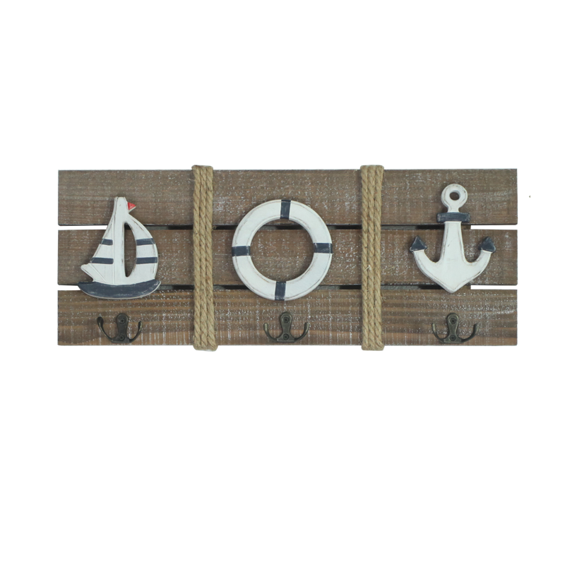 Beach Wooden Stand with hook Home Decoration