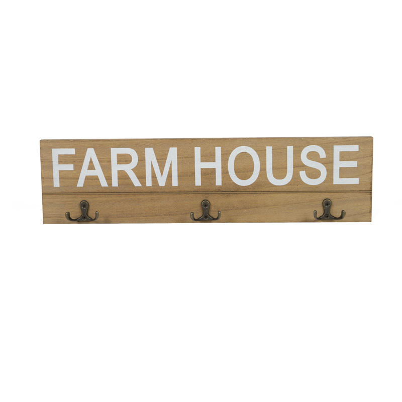 Farm Wooden Hanger with Hook Home Decoration