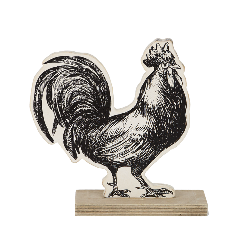 Farm Wooden Hen Stand Home Decoration