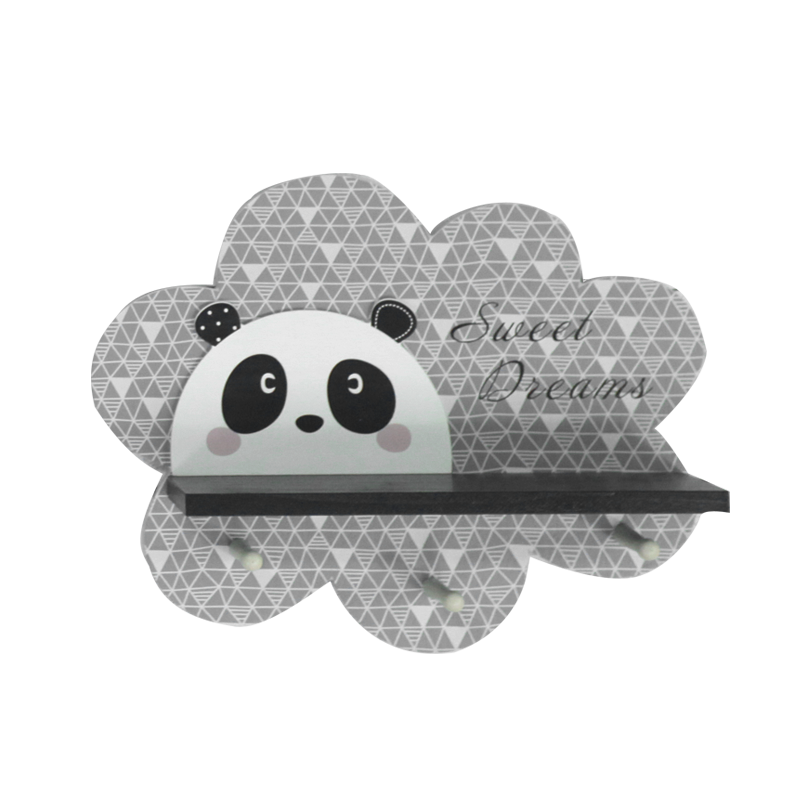 Kid Wooden Panda Stand Home Decoration