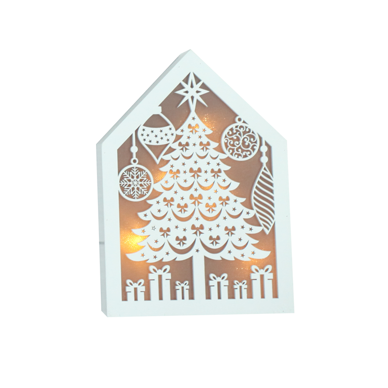 LED Wooden Christmas Stand Home Decoration