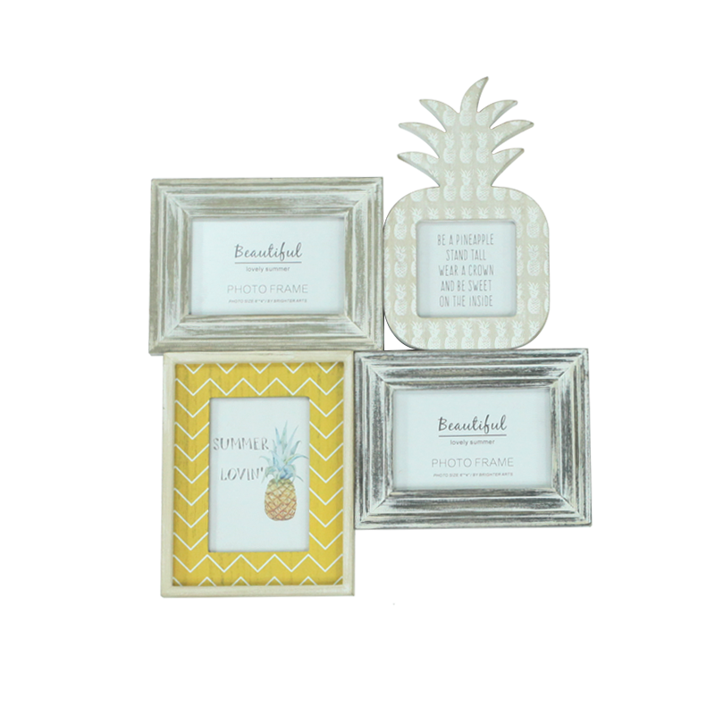 Summer Wooden Pineapple Photo Frame Home Decoration