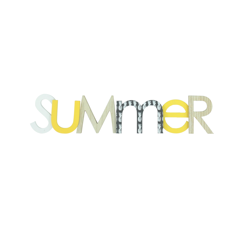 Summer Wooden Letter Stand Home Decoration