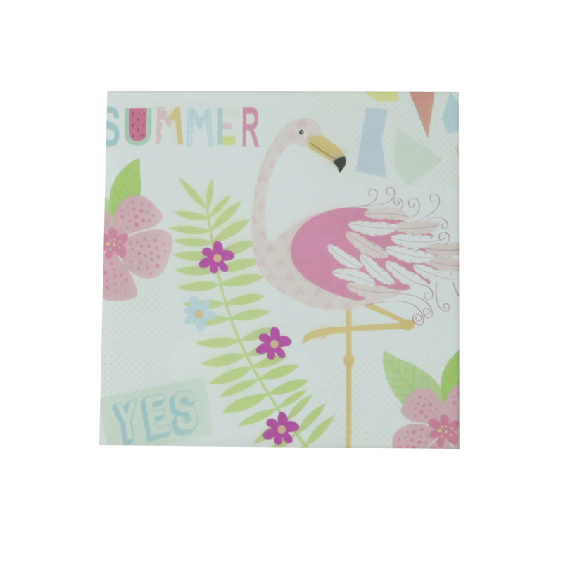 Summer Flamingo Fabric Frame Home Decoration