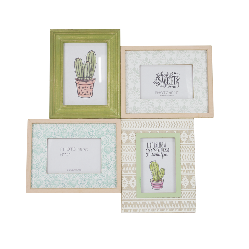 Summer Cactus Wooden Photo Frame Home Decoration