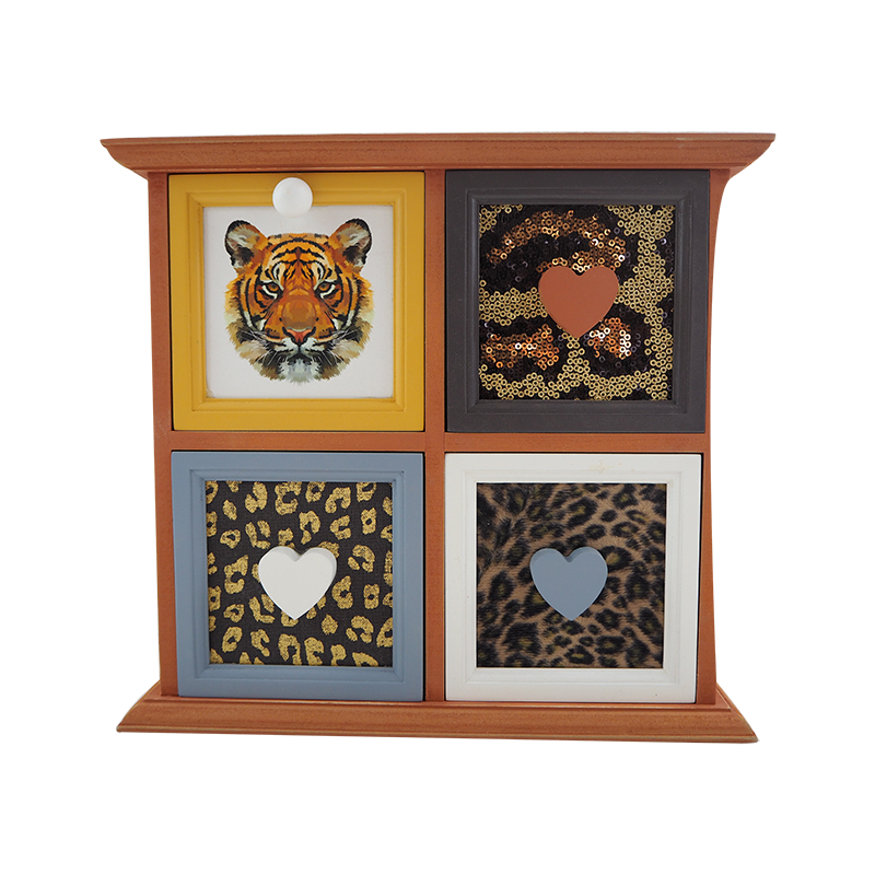 Wooden Tiger Drawer Stand Home Decoration