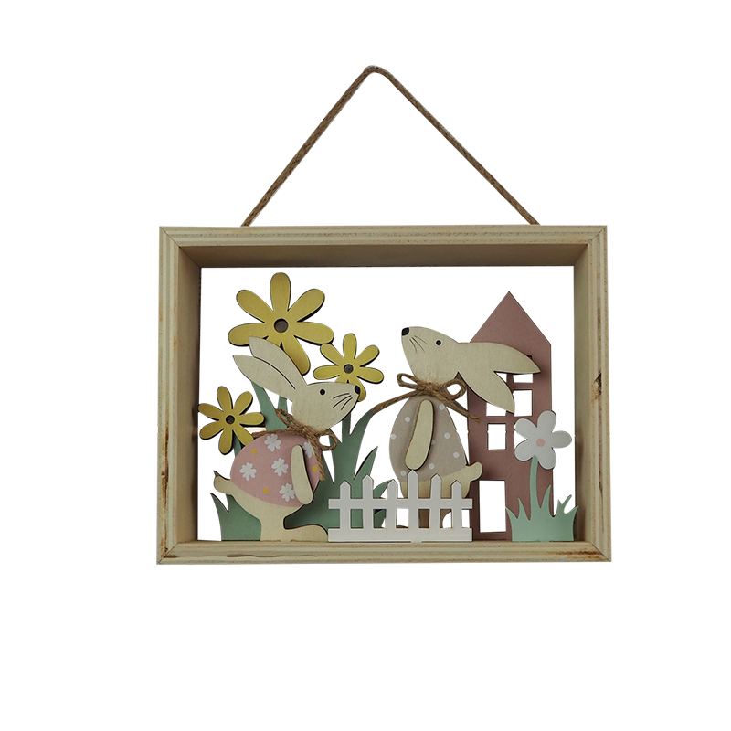 Easter Wooden Hanger Home Decoration