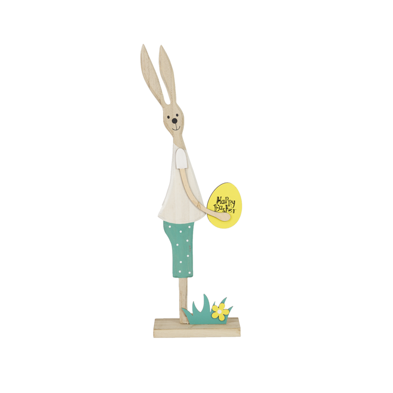 Easter Wooden Rabbit Stand Home Decoration