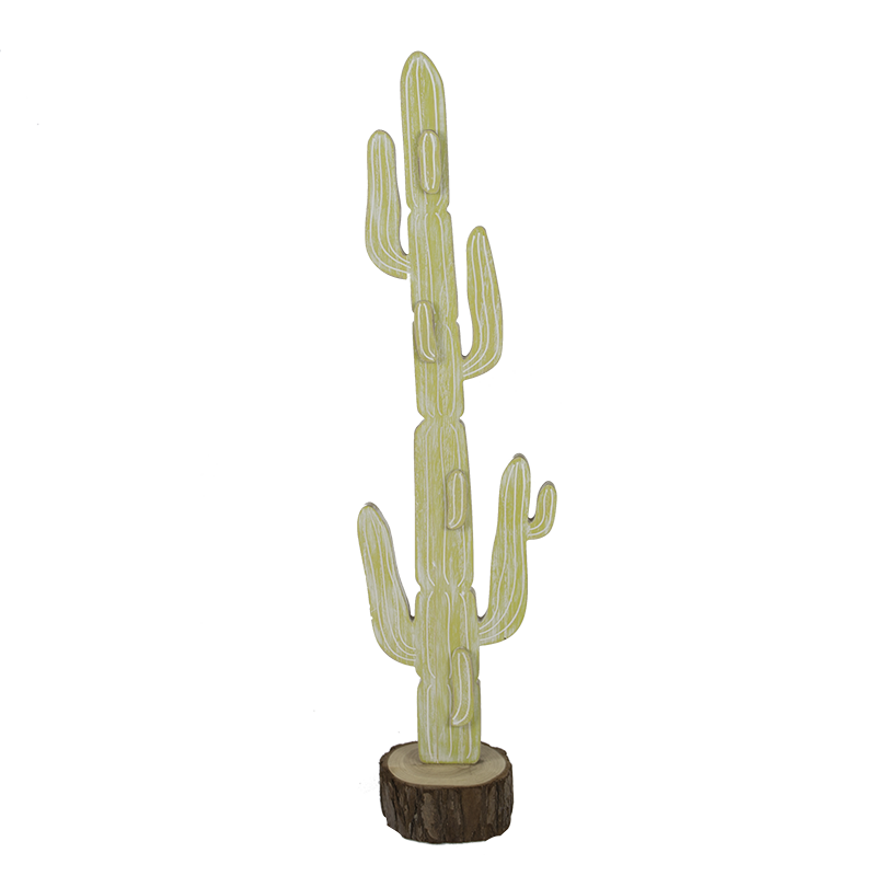 Summer Wooden Cactus Stand Home Decoration