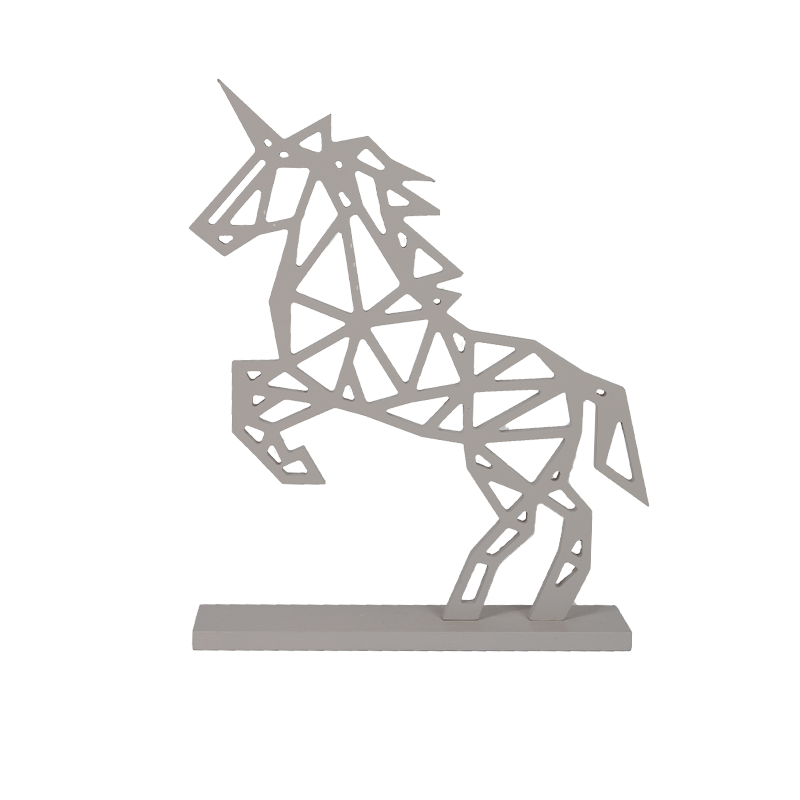 Wooden Christmas Horse Stand Home Decoration