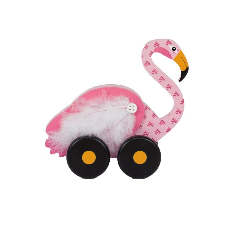 Summer Flamingo Wooden Stand Home Decoration