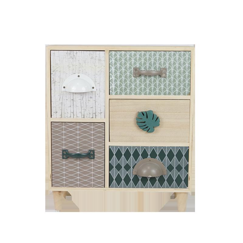 Summer Leaf Wooden Drawer Home Decoration