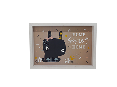 KID WOODEN STAND HOME DECORATION