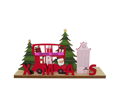 WOODEN CHRISTMAS STAND HOME DECORATION