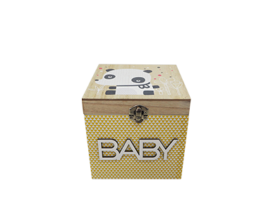 KID WOODEN BOX HOME DECORATION